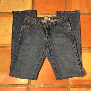 Wrangler F jeans size 5/6 x 36. Cowgirl Cut. Nice!